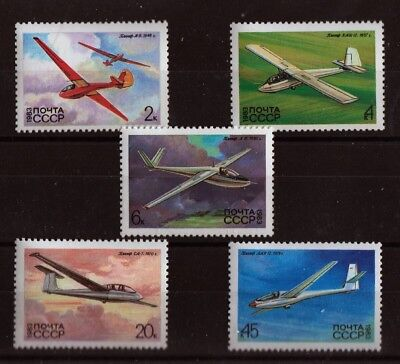 Gliders set of 5 stamps mnh 1983 Russia 5118-22 aviation