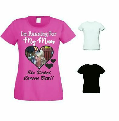 im running  for ____   photo, plus wording charity race for life tshirt