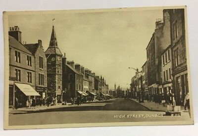 DUNBAR High Street, RP postcard by Valentines, Not Used c1940's Sepiatype