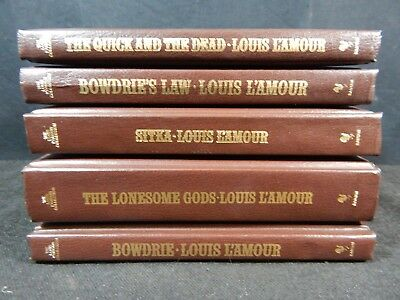 Lot of (5) The Louis L'Amour Leatherette Collection Books - Bantam Books #4