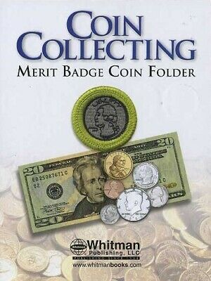 Coin Collecting Merit Badge Folder Boy Scout Educational By Whitman Album