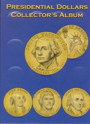 MCC US Presidential Dollar Deluxe Coin Folder + Protective Flaps 2007 2016 Gift