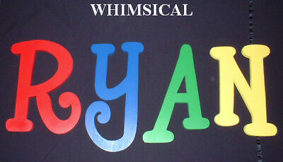 "Painted Wooden Wall Letters 8"" size ALL CAPITALS Name Decor Select a Font"