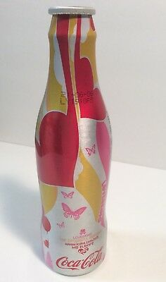 COCA COLA LOVEBEING ALUMINUM BOTTLE, 200 ml Made In UK, 2005