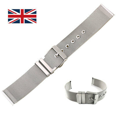 Stainless Steel Watch Bracelet Mesh Band Strap Belt 14 16 18 20 22 24 mm UK