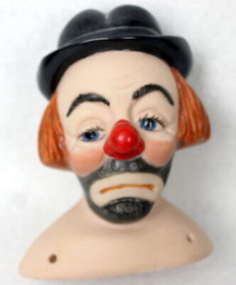 Porcelain Bisque Hobo Clown Doll Head