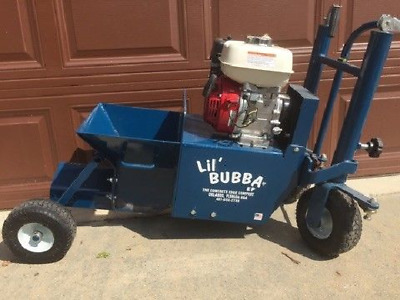"""BRAND NEW """"Lil Bubba""""Concrete Curbing Machine and  Used Tractor"""