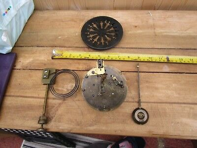 Antique Medaille de Bronze  CLOCK OPEN ESCAPEMENT FOR REPAIRS OR PARTS