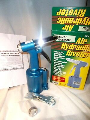 "NEW IN BOX Central Pneumatic 1/4"" Air Hydraulic Riveter POWERFUL HIGH SPEED"