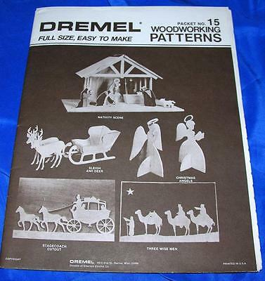 Vtg Diy Dremel Mid Century Xmas Woodworking Patterns 5 Projects Tabletop, Mantle
