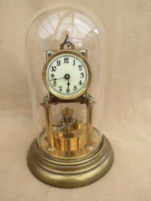 Antique German Disc Torsion Pendulum Clock For Tlc