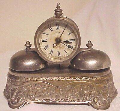 Antique 1800's Parker U.s.a. Rotary Strike Double Bell Alarm Clock