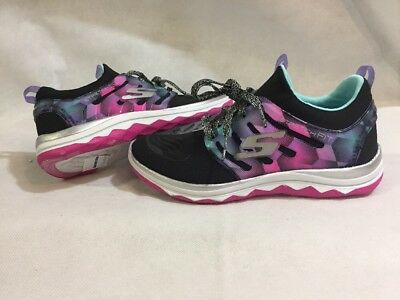 1fca6b6c20675 SKECHERS StretchFIT FAthletics Shoes Girls, Black/ Pink, Size 2, UK 1,