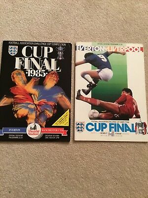 1985 & 1986 FA Cup Final Everton v Manchester United & Liverpool Programme