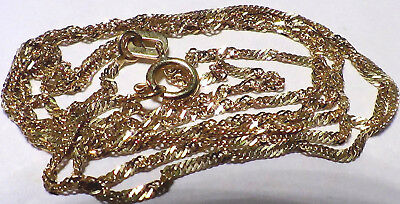 Solid 10K Yellow Gold Twist Chain 20 Inches Long  No Reserve