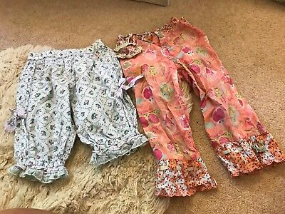2 Pairs Of Girls Oilily Trousers 2-3 Years