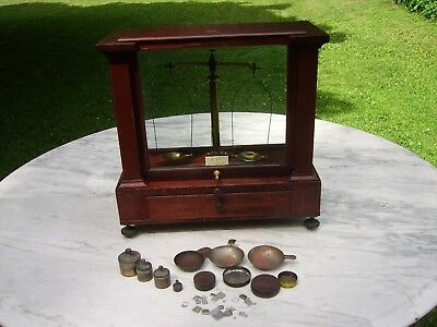 Antique H. Kohlbusch Apothecary Scale and Cabinet