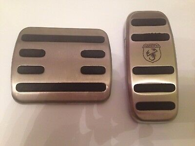 New Genuine Fiat 500 Abarth 2 Pcs Set Automatic Transmision Pedals Cover