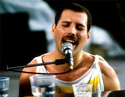 Freddie Mercury UNSIGNED photograph - M828 - Lead singer with Queen - NEW IMAGE!