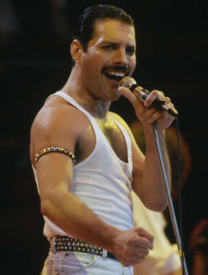 Freddie Mercury UNSIGNED photograph - M838 - Lead singer with Queen - NEW IMAGE!