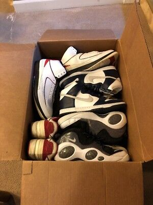 Sneaker Beater Box 10 pair different Sizes  11 1/2 - 14 - 15 - 16  Large Sizes