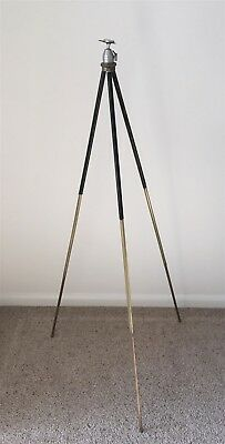 Antique Brass Legged Camera Tripod with Gimbal Top + Extra Hand Made Brass Part
