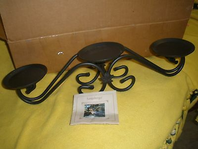 Longaberger Wrought Iron 3 Tier Candle Holder Stand 70386