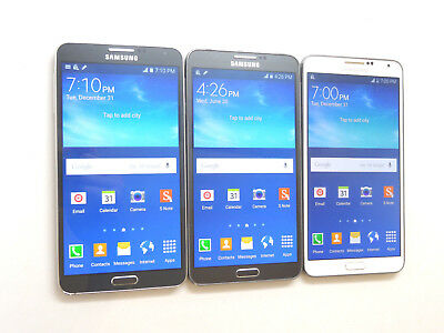 Lot of 3 Samsung Galaxy Note 3 SM-N900T 32GB T-Mobile Unlocked Smartphones AS-IS