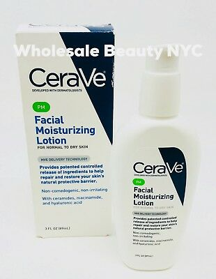CeraVe PM Facial Moisturizing Lotion For Normal To Dry Skin 3.0 oz (89)