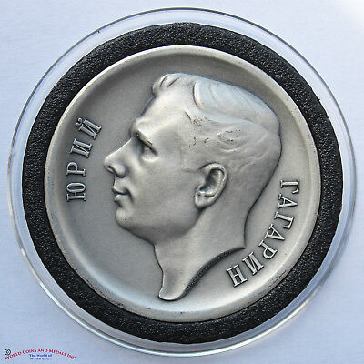 Russia, Ussr Silver Medal. First Manned Space Flight. Gagarin. April 12, 1961.