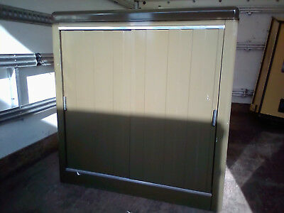 1940/50s HOWDENS Industrial Roll front office cabinet - Industrial Vintage Retro
