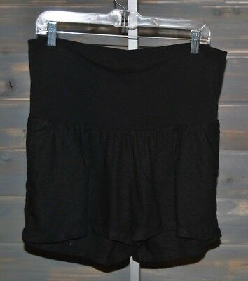 Women's Old Navy Linen Blend Black Maternity Shorts, Size S, XL
