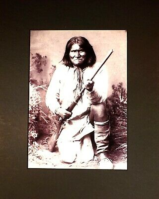 1898 Matted Photo-GERONIMO-Prominent Leader Of Apaches Fought Mexico & Arizona