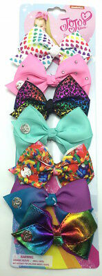 JoJo Siwa Signature Collection Days of Week Bows Set of 7 Small Hair Bows Clips