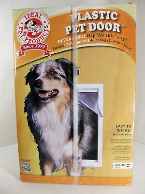 "Plastic Pet Door Ideal Pet Products PPDXL 10.5"" x 15"" XL Extra Large Up to 90lbs"