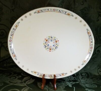 Vintage Cavitt-Shaw Division W.S. George 184A Pan American Oval Platter 13.5 in
