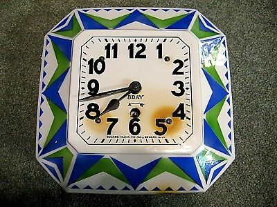 Rare Antique Newark Clock Company 8 day Kitchen Clock from the 20's or 30's