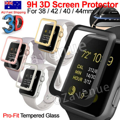 Apple Watch Series 1/2/3/4 Tempered Glass Screen Protector Full Edge iWatch 44mm