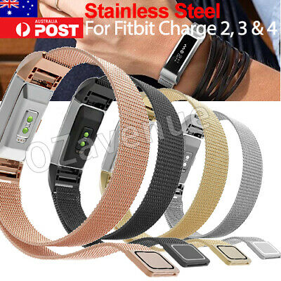 Stainless Steel Metal Watch Wrist Band Strap Bracelet for Fitbit Charge 2 3