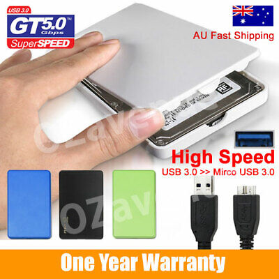 "QUALITY 2.5"" SATA USB 3.0 EXTERNAL SSD HDD Hard Drive ENCLOSURE CASE"