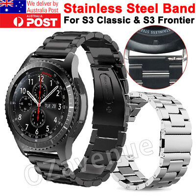 For Samsung Gear S3 Frontier/Classic Stainless Steel Luxury Wristband Band Strap