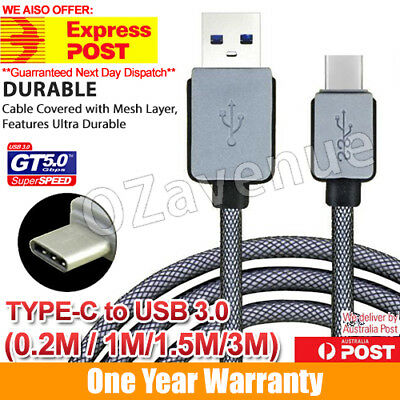 USB-C USB 3.1 Type C Type A Male Data Charge Fast Charging Cable Samsung Galaxy