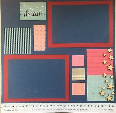 "PRE-MADE SCRAPBOOKING PAGE - 12"" x 12"""
