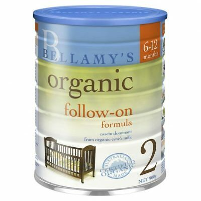 NEW Bellamy's Organic Follow-on Formula Stage 2 From 6 Months 900g