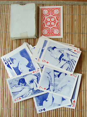 Vintage Adult Men & Women NUDES X RATED Playing Cards Full Deck
