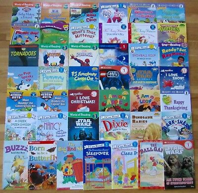 Lot 43 HELLO READER I Can Read STEP INTO READING Scholastic Level 1 Books L7