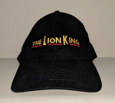 eeaa7238de7a3 The Lion King VIP Disney Strapback Dad Hat Black Spellout Logo  RARE VINTAGE