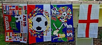 FIFA Russia World Cup 2018 Man Cave Flag 3ft x 5ft  4 GROMMETS