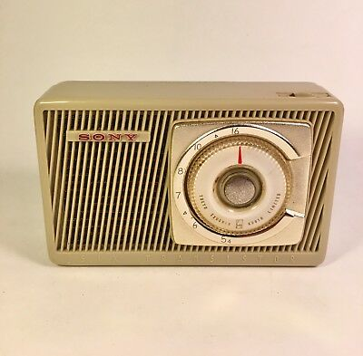 Rare And Early SONY TR-61 Transistor Radio Japan - SONY Oval Transistors - WORKS