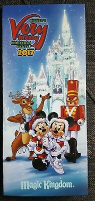 Mickey's Very Merry Christmas Party 2017 Event Guide/Map Magic Kingdom